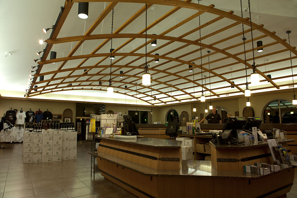 Inside wine shop
